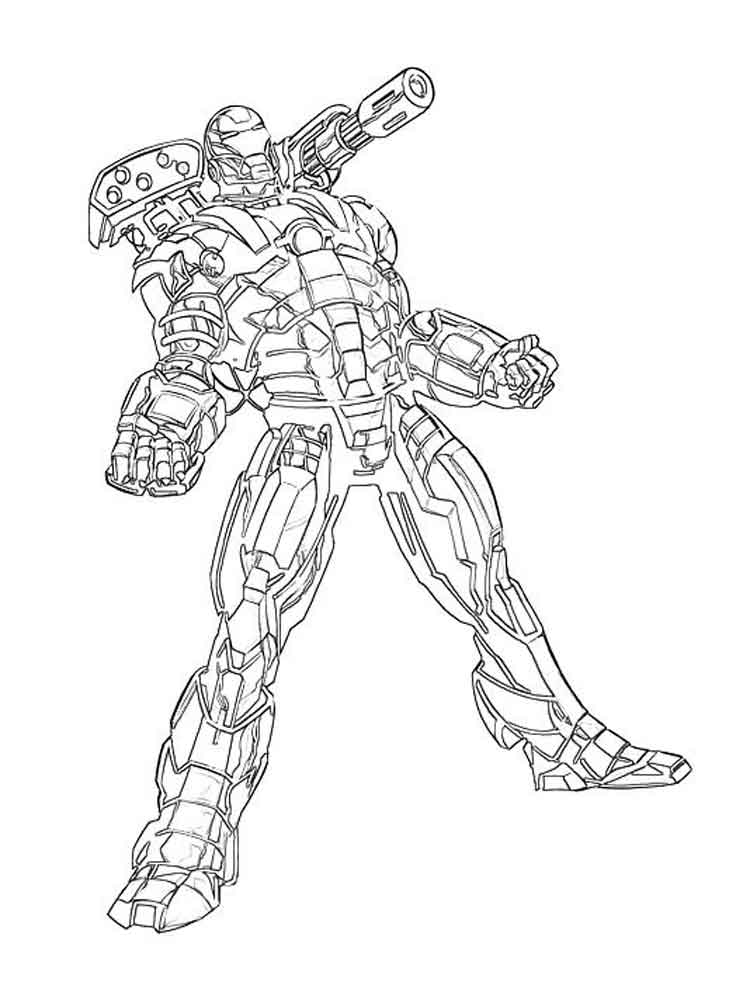 War machine coloring pages free printable war machine Blippi coloring book animals machines