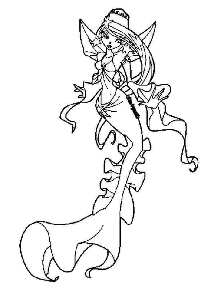 WINX Mermaid Coloring Pages Free Printable WINX Mermaid