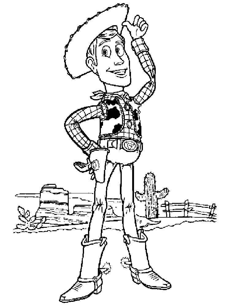 coloring pages of woody - photo#20
