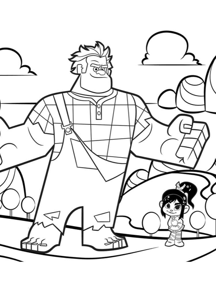 Wreck-It Ralph coloring pages. Free Printable Wreck-It ...