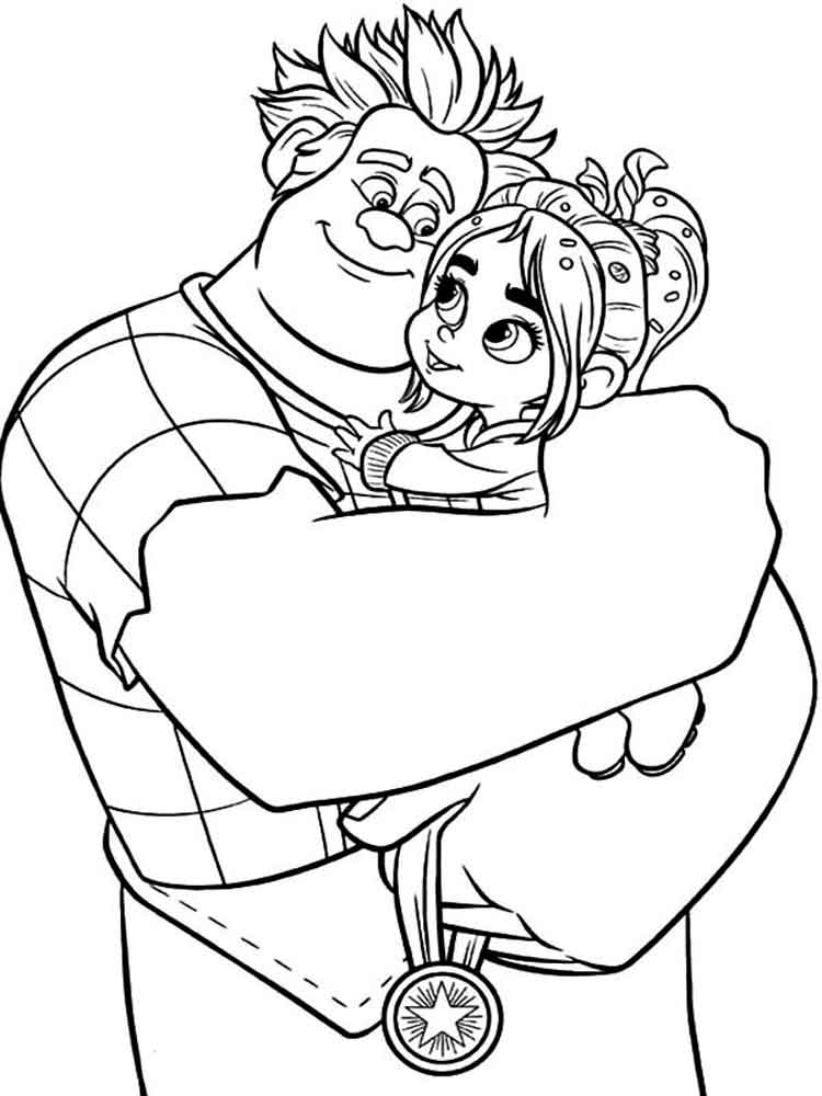 Wreck it ralph coloring pages free printable wreck it for Free wreck it ralph coloring pages