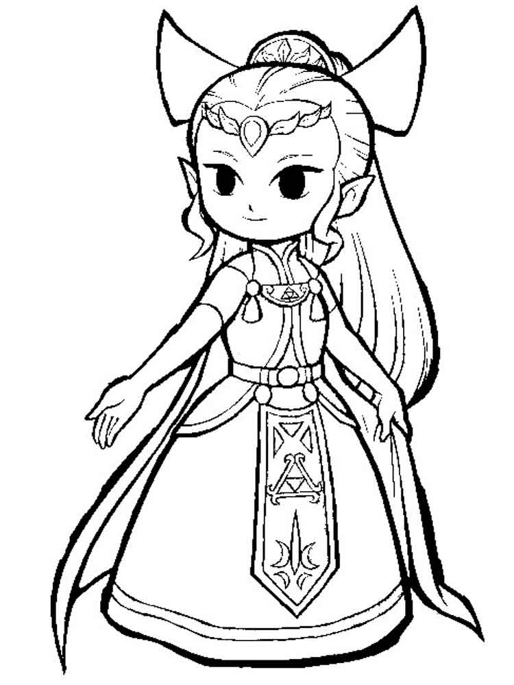 zelda coloring pages 12