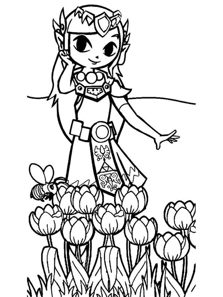 link coloring pages to print - zelda coloring pages free printable zelda coloring pages