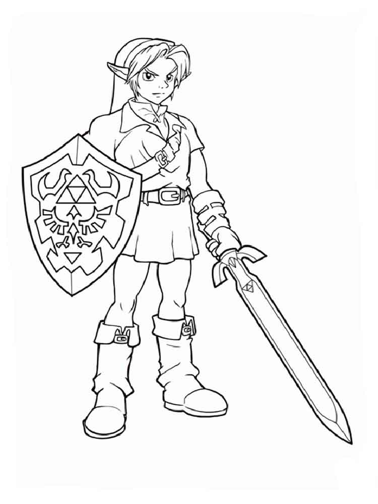 Zelda coloring pages. Free Printable Zelda coloring pages.