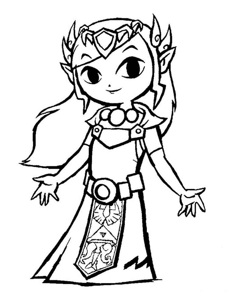 Zelda coloring pages Free Printable
