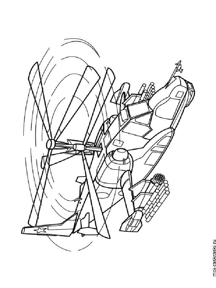 Helicopters coloring pages Download