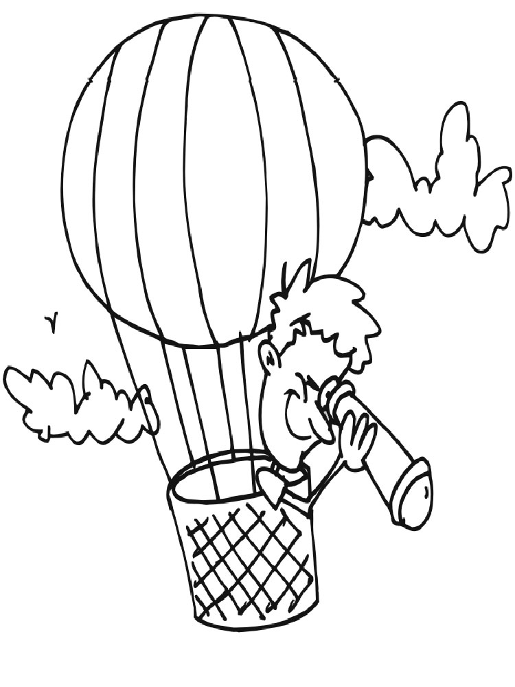 Hot Air Balloon Coloring Pages 11