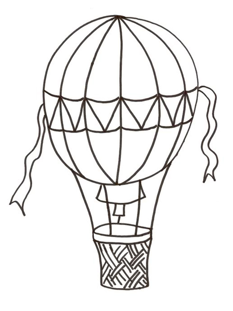 Hot Air Balloons coloring pages. Download and print Hot Air Balloons ...