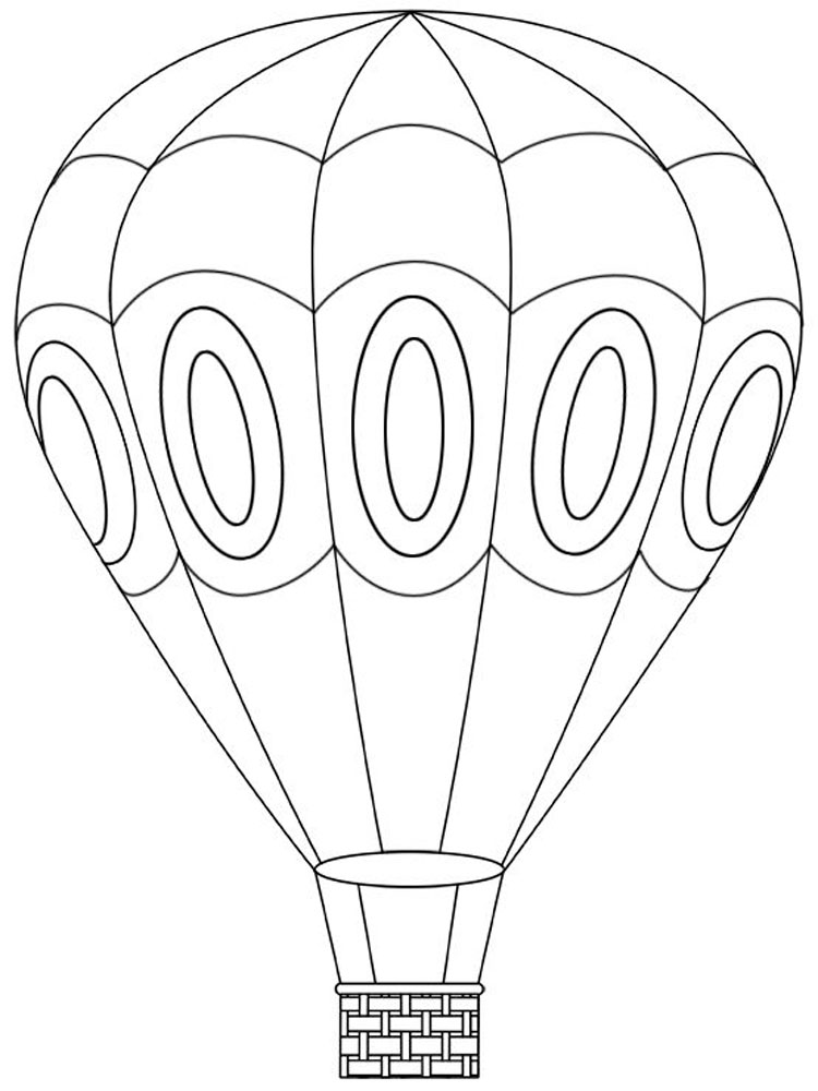 Hot Air Balloons coloring pages. Download and print Hot ...