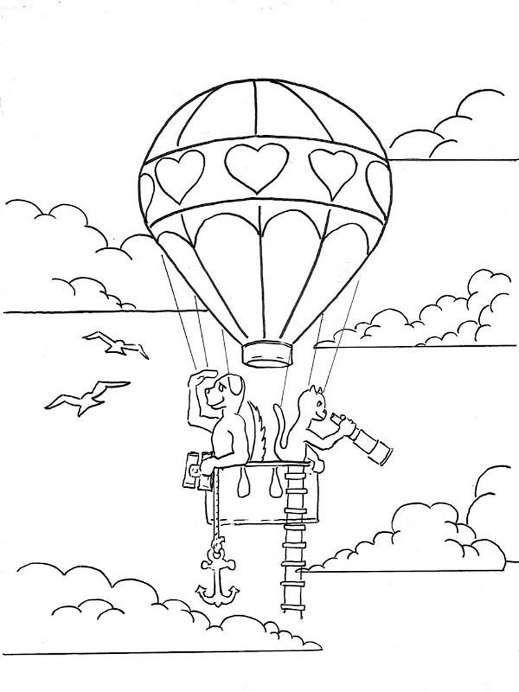 Hot Air Balloons Coloring Pages Download And Print Hot