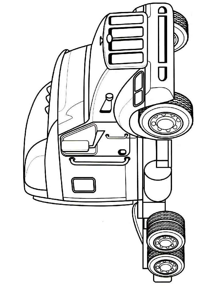 Truck coloring pages Download and print tuck coloring pages