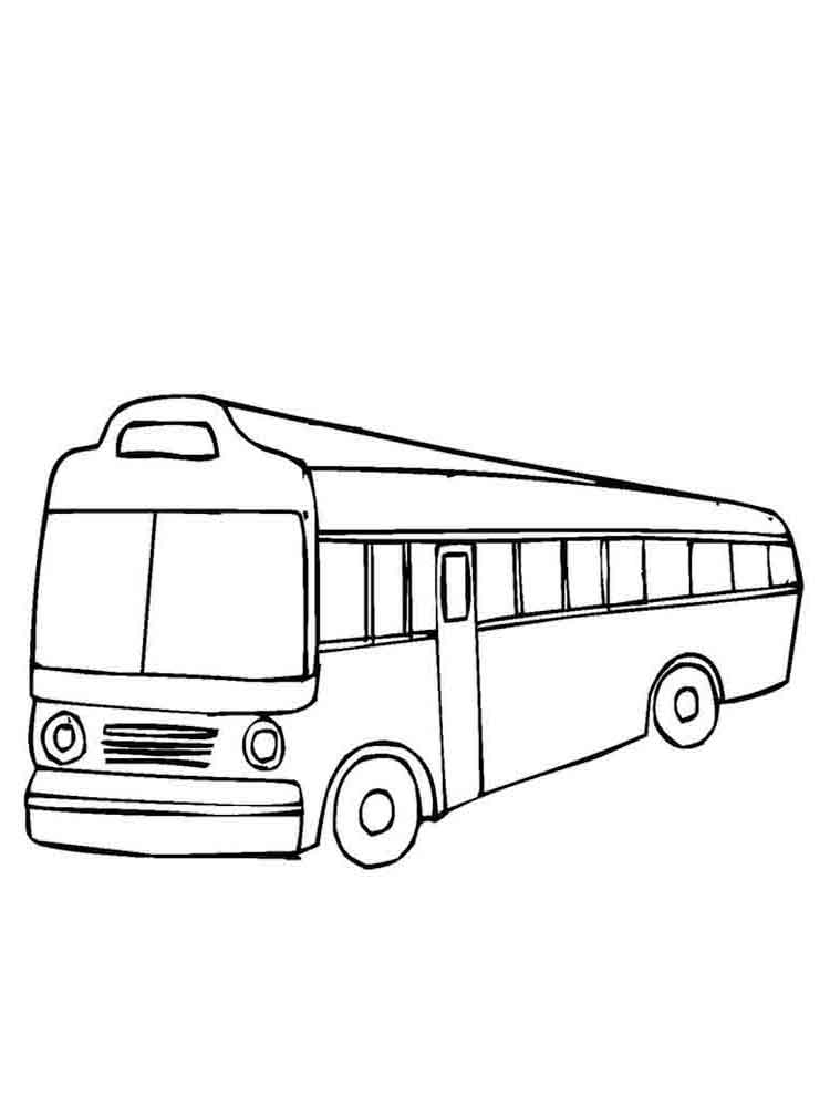 Buses Coloring Pages 12