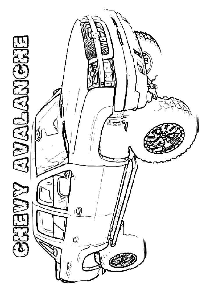 Chevy coloring pages Free Printable