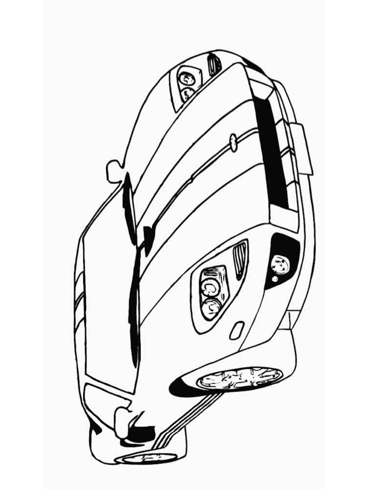 Corvette coloring pages Free Printable