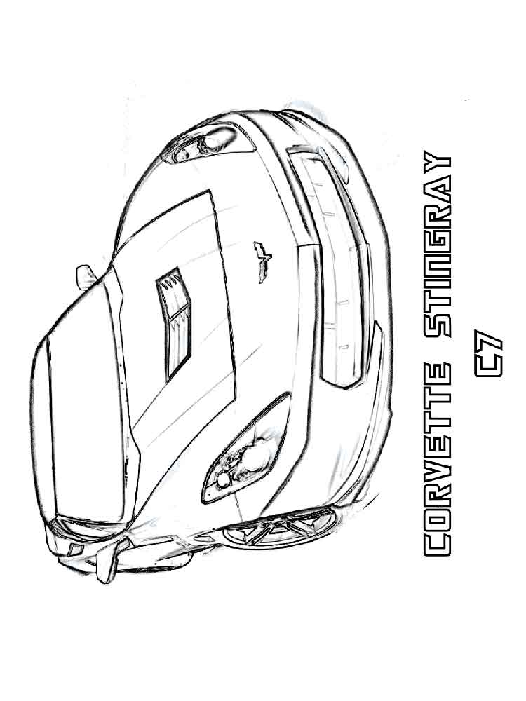 Corvette coloring pages free printable corvette coloring for Corvette coloring pages