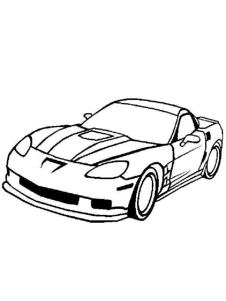 Corvette Coloring Pages Free Printable Corvette Coloring