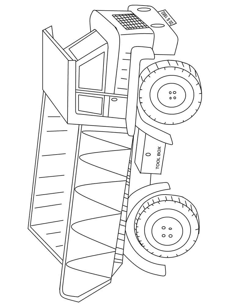 Dump Truck coloring pages Free