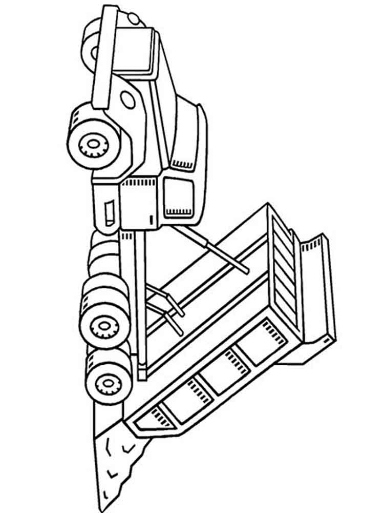 Dump Truck coloring pages. Free Printable Dump Truck ...