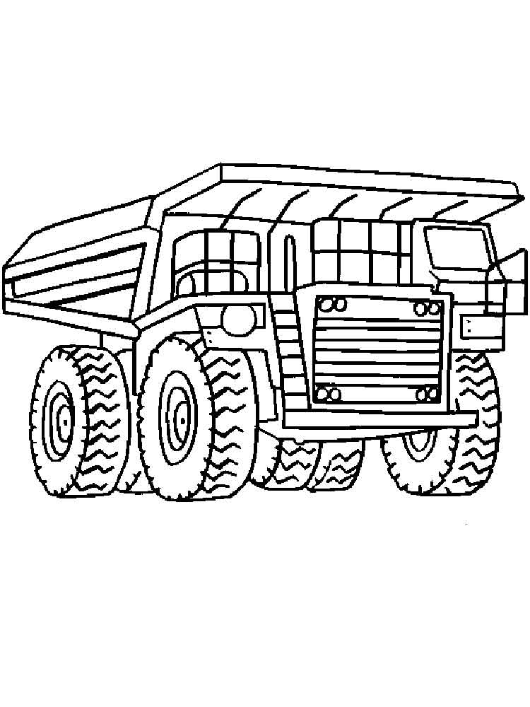 Dump Truck Coloring Pages Free Printable Dump Truck Coloring Pages