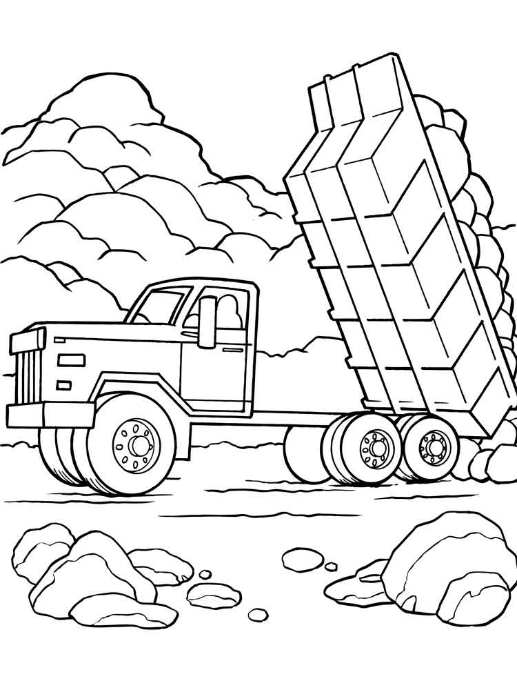 Dump Truck coloring pages Free Printable Dump Truck