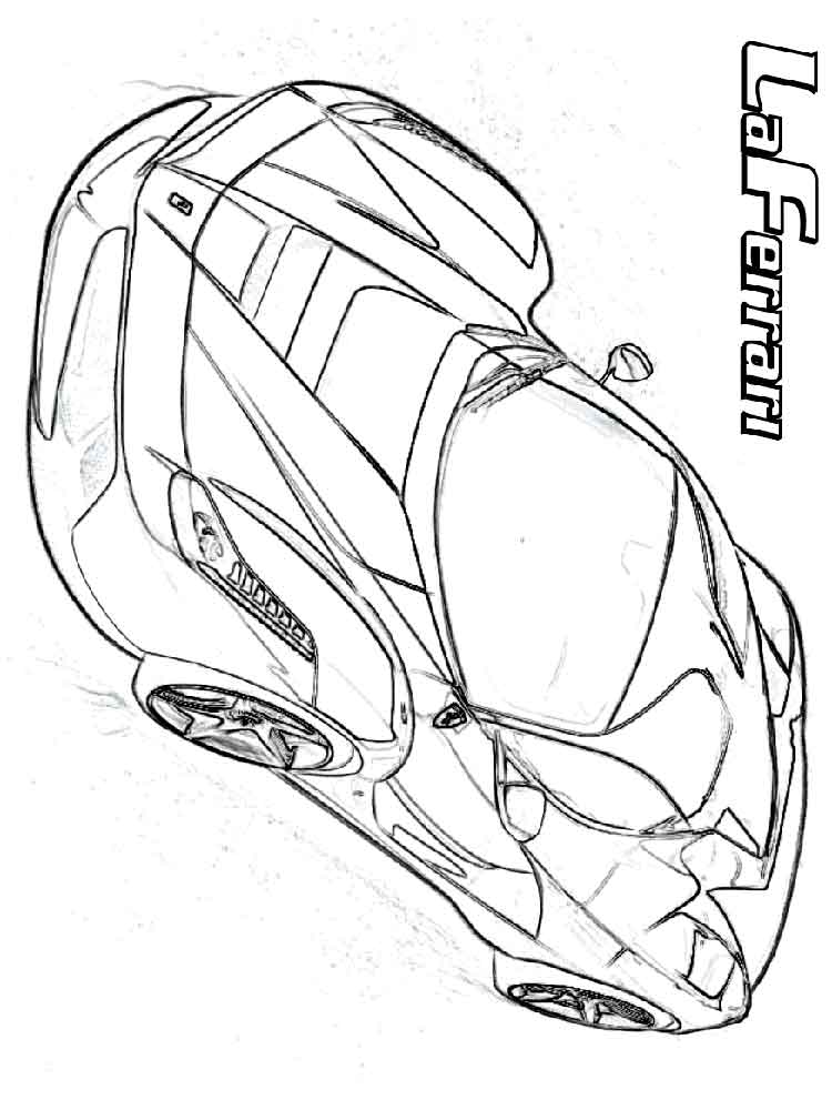 Ferrari coloring pages Free Printable