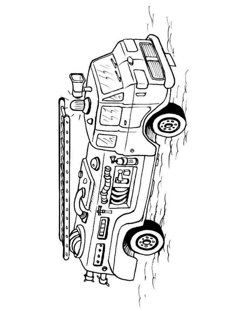 firetruck realistic coloring pages - photo#23