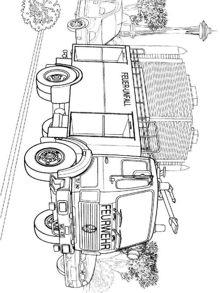 Fire Truck Coloring Pages Download And Print Fire Truck