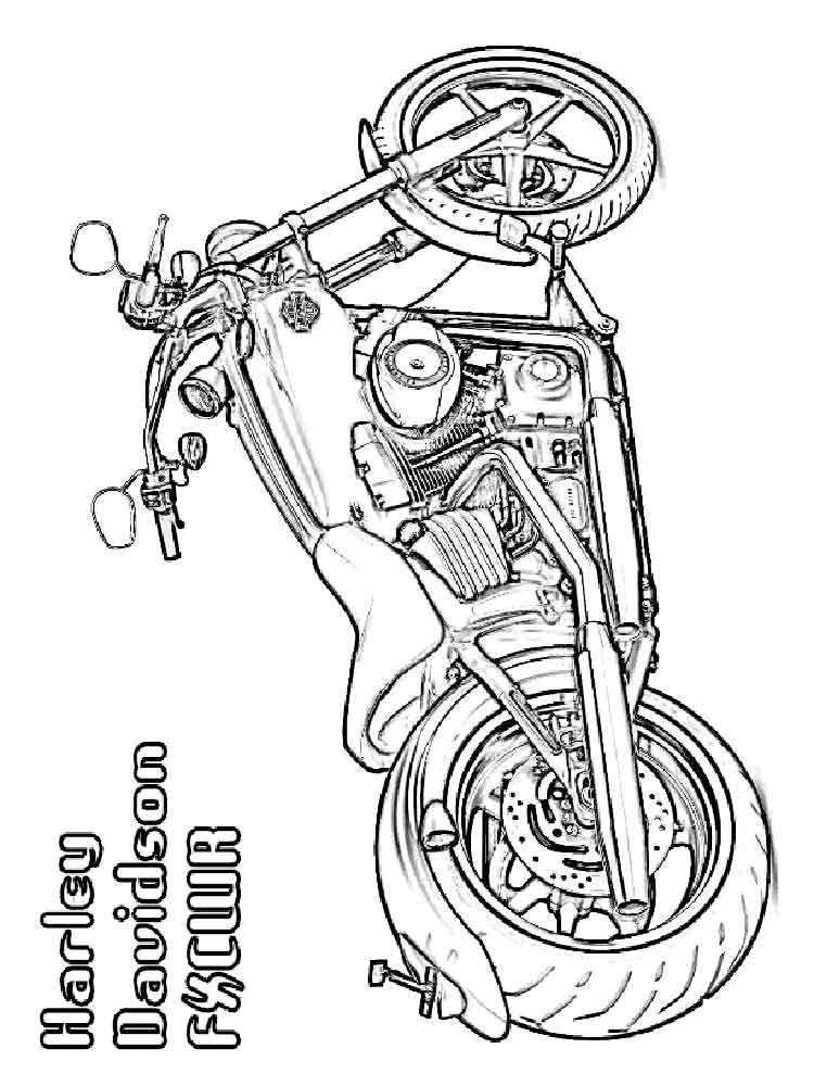 - Harley Davidson Coloring Pages. Free Printable Harley Davidson Coloring  Pages.