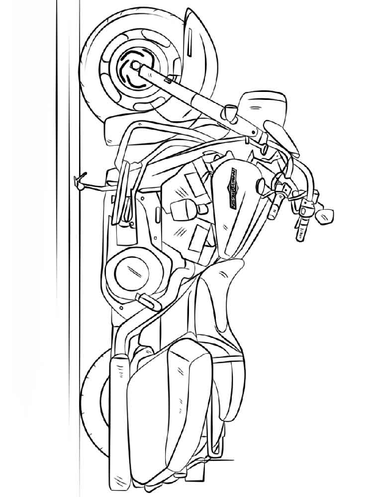 Harley Davidson Coloring Pages Free Printable Harley