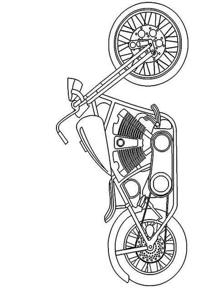 10 Free Harley Davidson Coloring Pages for Kids ... | 1000x750