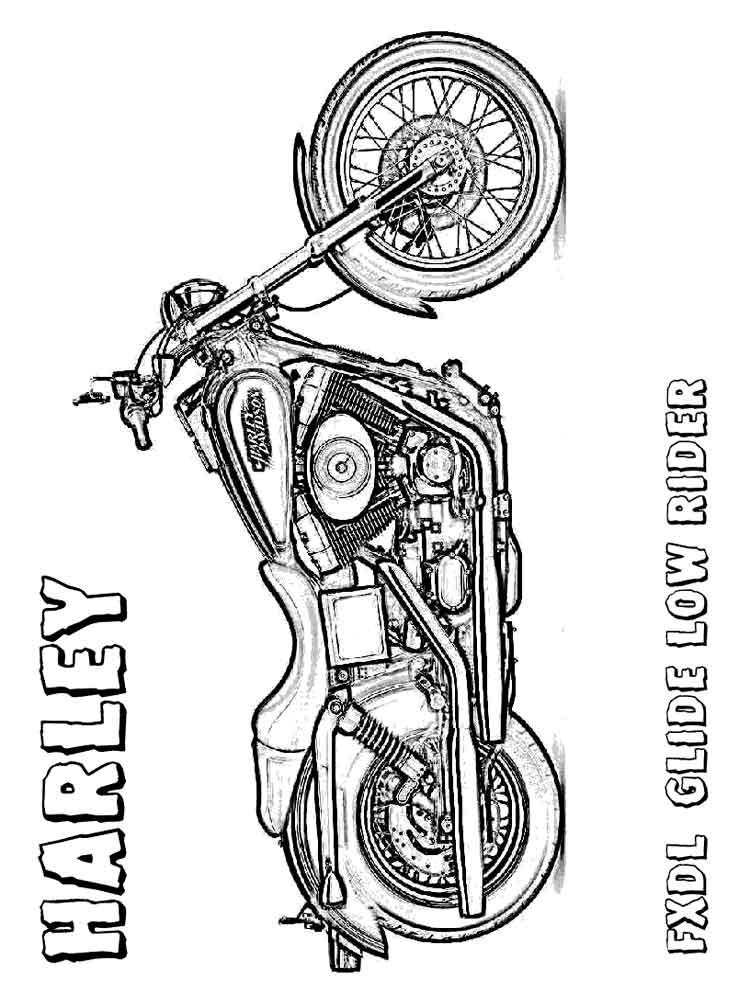 Harley Davidson Coloring Pages. Free Printable Harley Davidson Coloring  Pages.