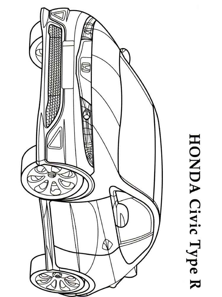 Honda Coloring Pages Free Printable Honda Coloring Pages