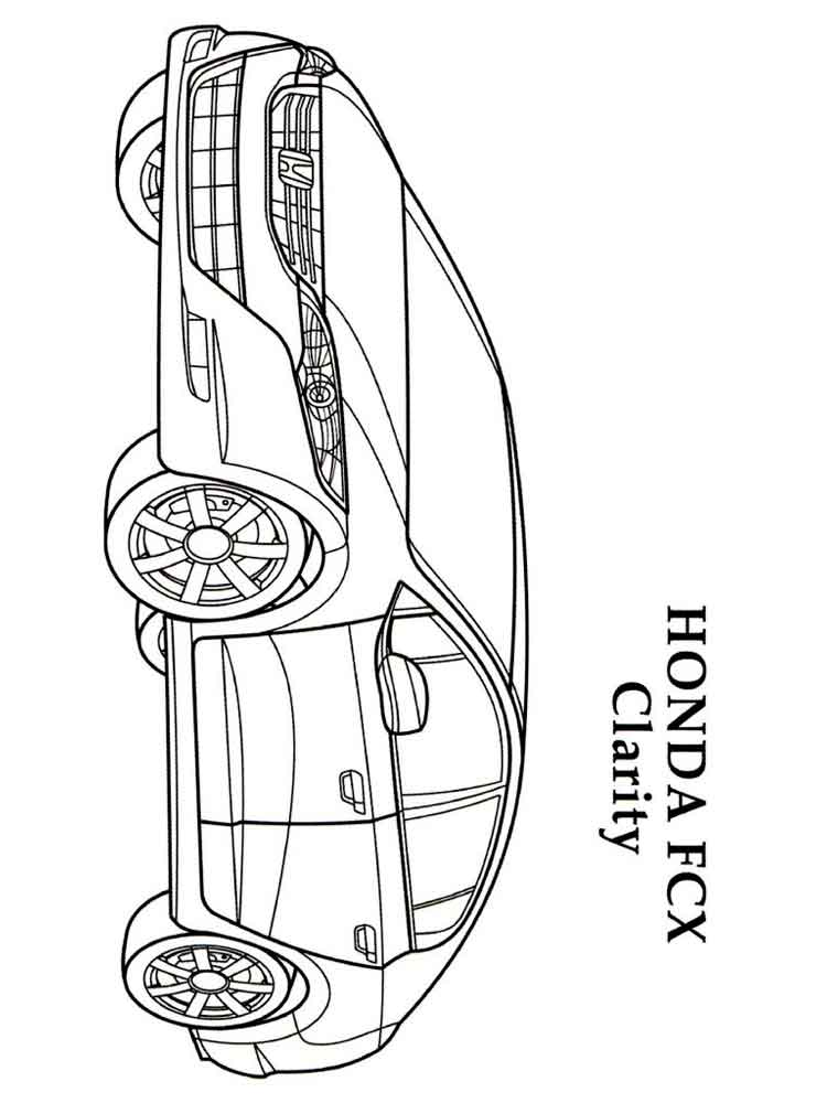 Honda coloring pages Free Printable