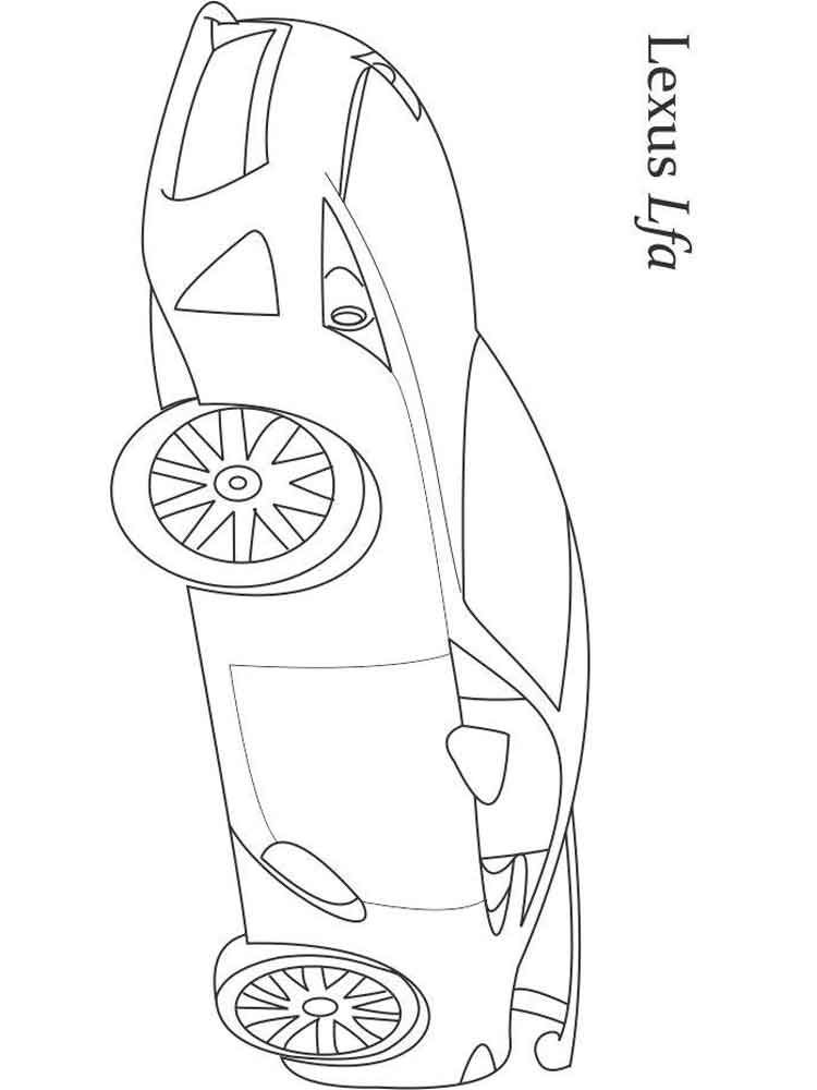 Lexus coloring pages Free Printable