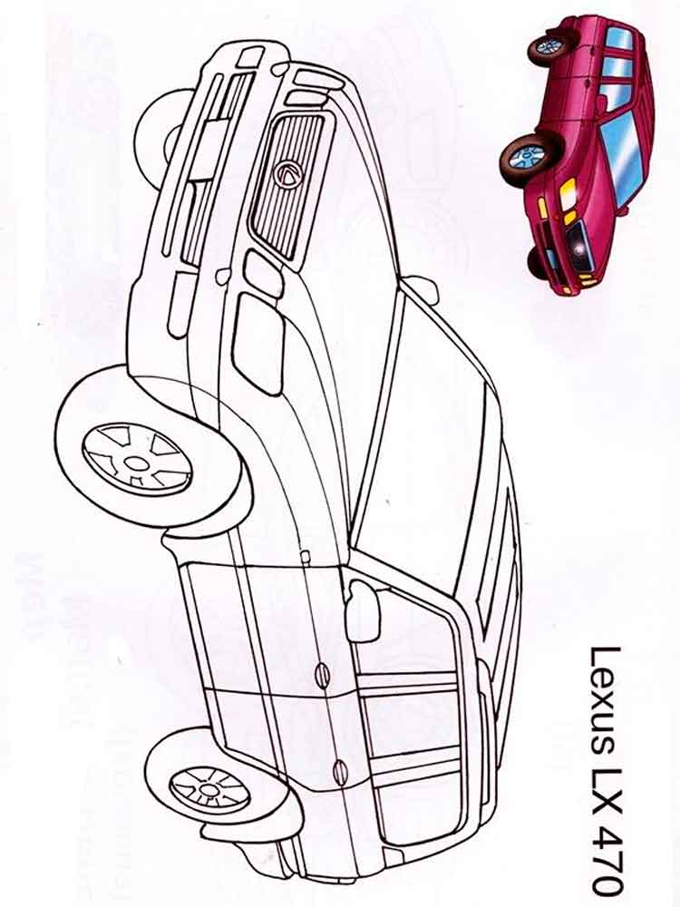 Lexus Coloring Pages Free Printable Lexus Coloring Pages