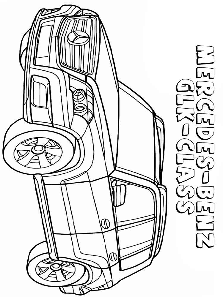 Mercedes coloring pages. Free Printable Mercedes coloring ...