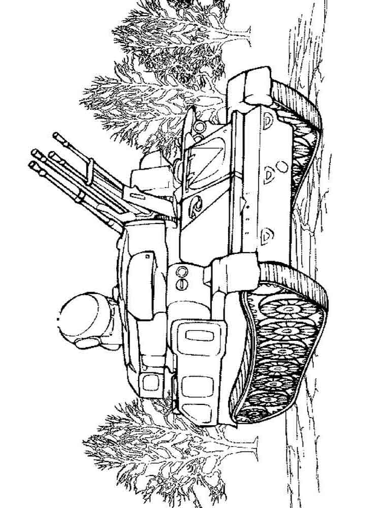 Army Tanks coloring pages Download