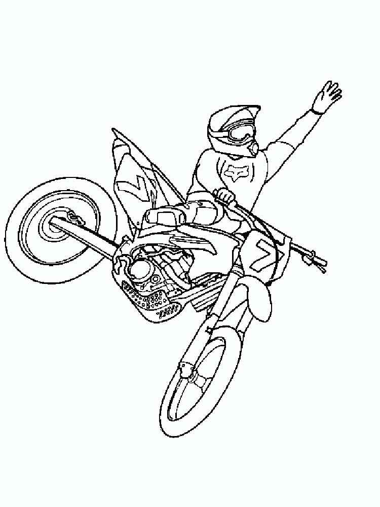 Dirtbikes Free Coloring Pages