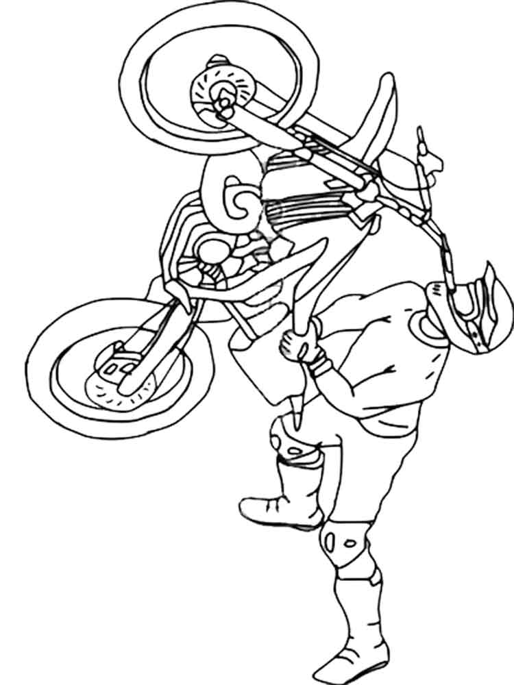 Motocross coloring pages Free