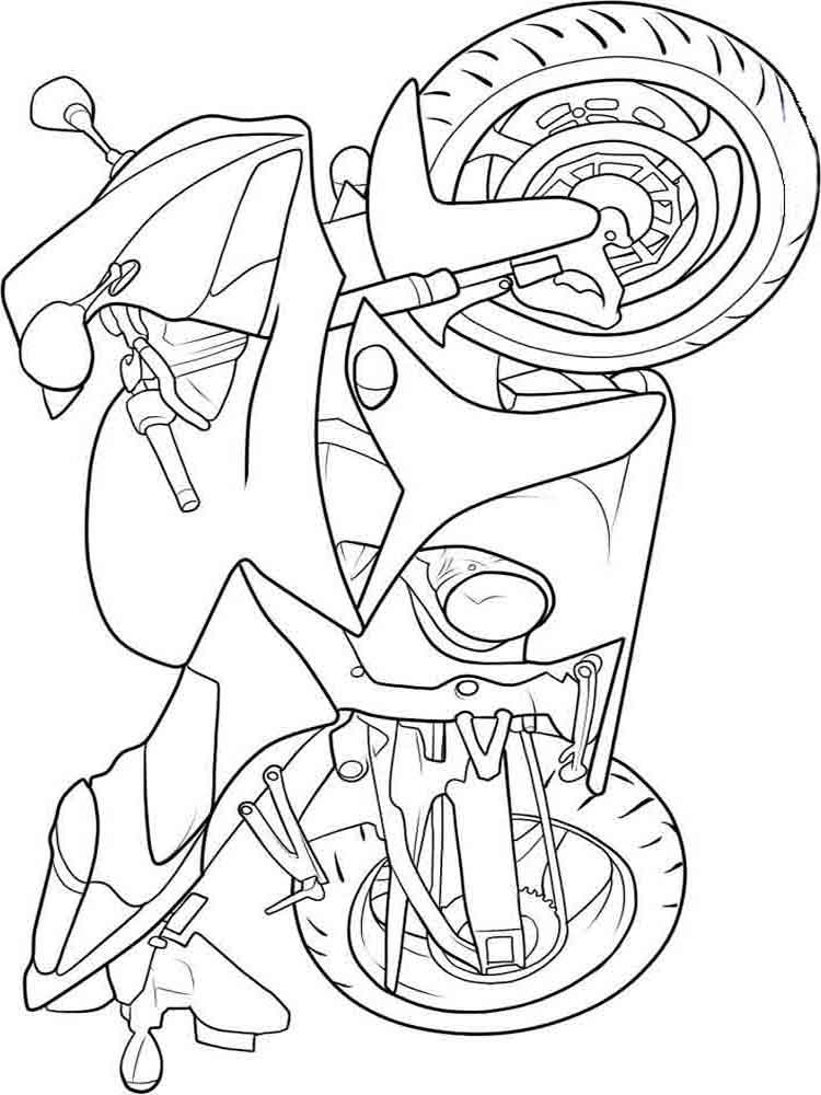 Motorcycles coloring pages Download