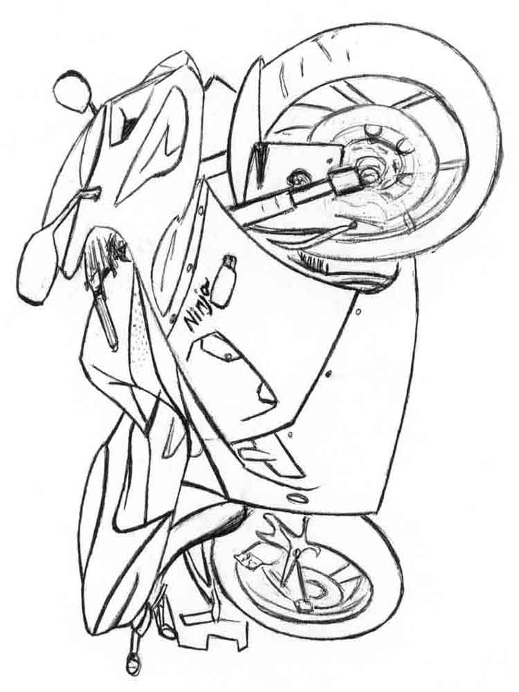 advanced motorcycle coloring pages - photo#50