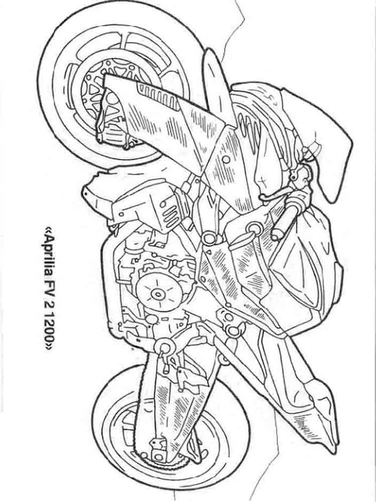 advanced motorcycle coloring pages - photo#42