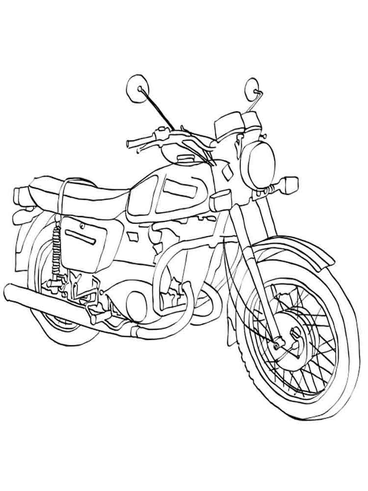 advanced motorcycle coloring pages - photo#4