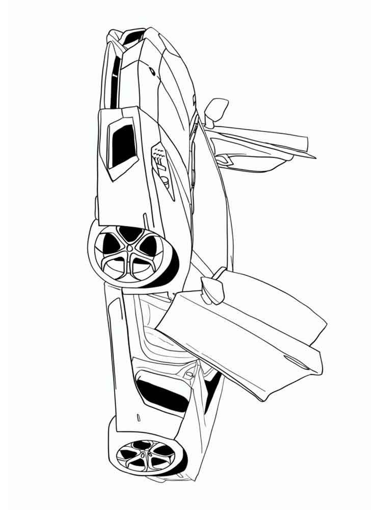 Muscle Car coloring pages Free Printable Muscle Car