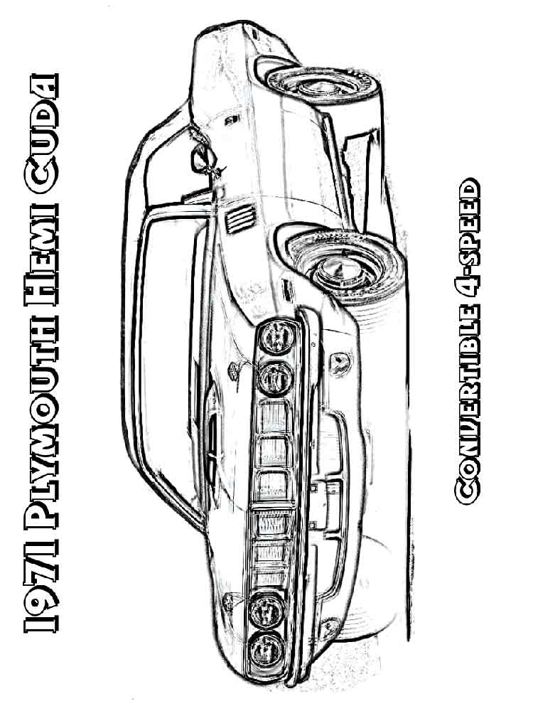 Muscle Car coloring pages Free