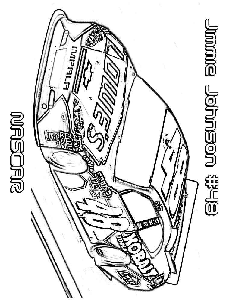 Nascar car number 48 get wiring diagram and fuses for Nascar 88 coloring pages