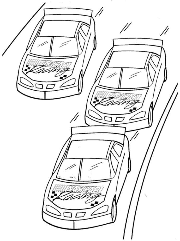 nascar coloring pages 14 - Nascar Coloring Pages