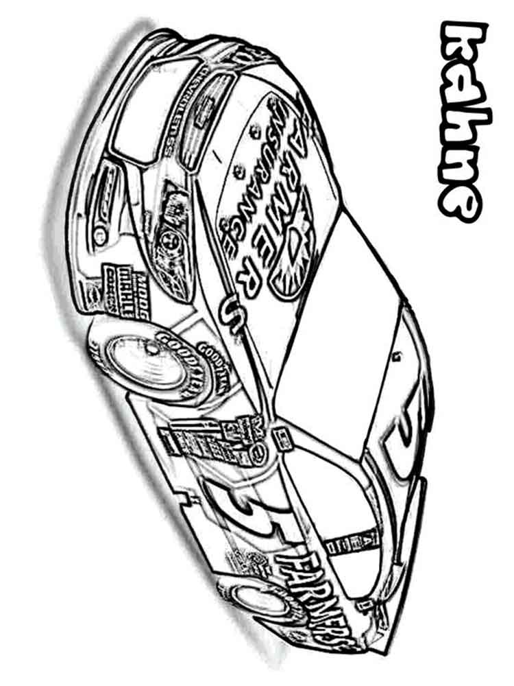 Nascar Coloring Pages Free Printable Nascar Coloring Pages
