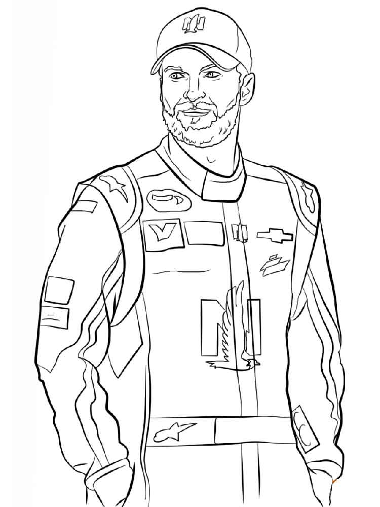 nascar coloring pages 6