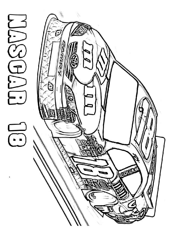 nascar printable coloring pages - photo#34